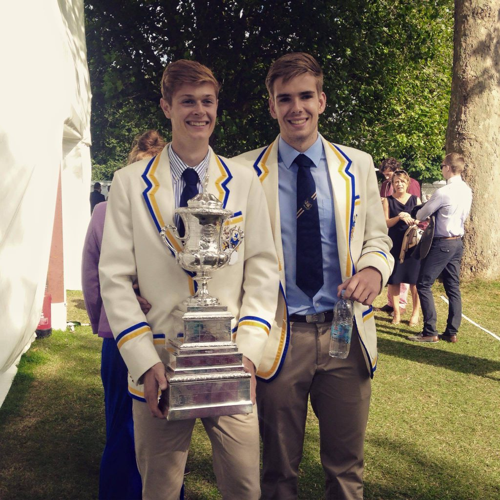 Ali Douglass and Harry Glenister winning the Wyfold Cup at Henley Royal Regatta, 2015
