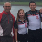 Representing England at the Home International Regatta
