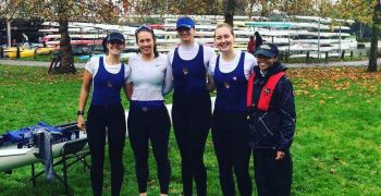 The winning crew of Hattie, Megan, Sophie, Maddie and Tsolo