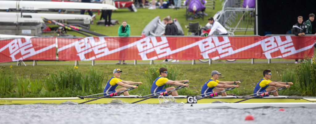 Beginner Men's Quad Winning Gold at BUCS 2021