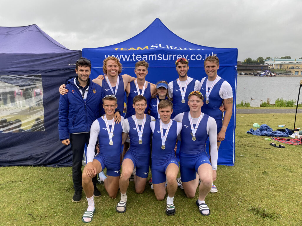 Senior Men's Eight Winning Silver at BUCS 2021