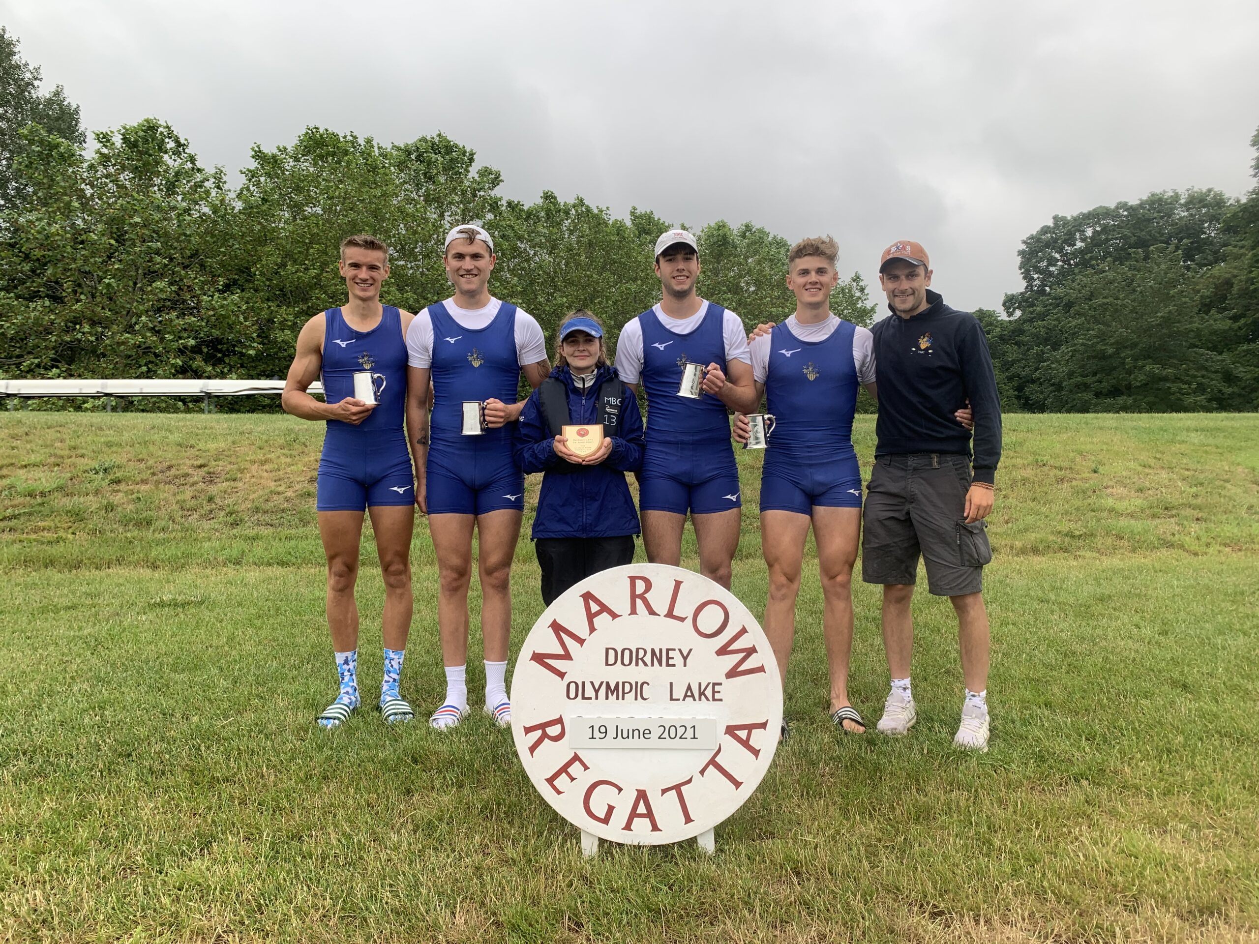 Senior Men's Four Winning MET Regatta